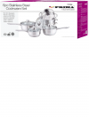 Stainless Steel 6pc Cookware Set with Steamer