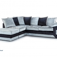 Corner Richmond Sofa In Black Silver