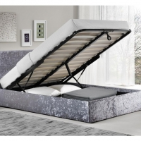 Silver Crushed Double Bed