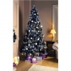 Black Christmas Tree With Silver Glitter Tips 7ft
