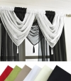 Ready Made Plain Design Voile Swags with Tassel