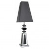 Black and Silver Mirror Pebble Table Lamp With Black Shade