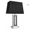 Black Mirror Astoria Table Lamp With Rectangular 17 Inch Black Shade