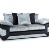 Black Silver 3 Seater