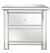 Classic Mirror 2 Drawer Bedside Chest