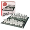 2-in-1 Glass Frost Chess & Draughts Set