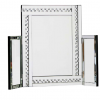 Glitz Silver Dressing Table Mirror - UK Delivery