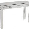 Silver Crystal Console table with Drawer